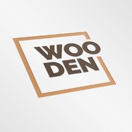 WOODEN Mockup Logo